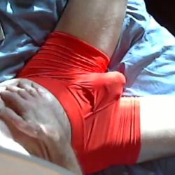 red Silkskins boxer briefs